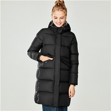 Detachable hooded long down jacket
