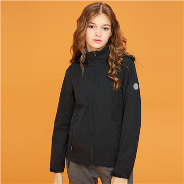 Womens Polar fleece hooded jacket