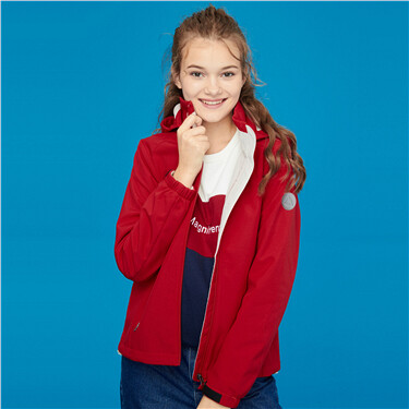 Detachable hood bonded polar fleece jacket