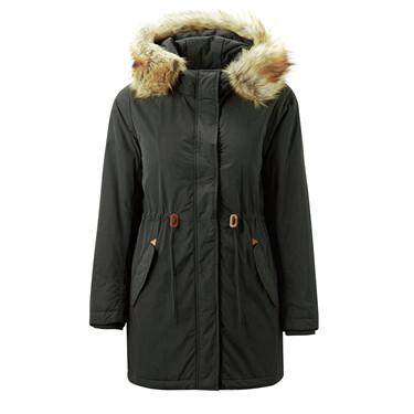 Detachable hooded banded waist overcoat