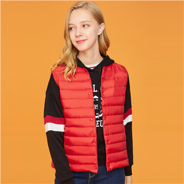 Machine washable sleeveless down vest