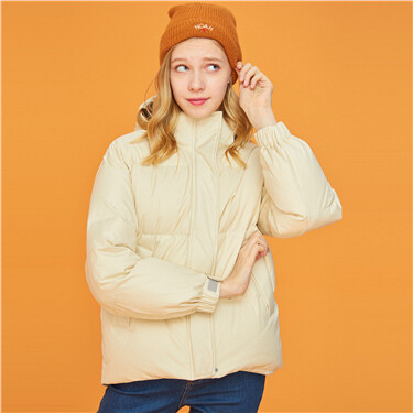 Detachable hooded 90% goose down jacket