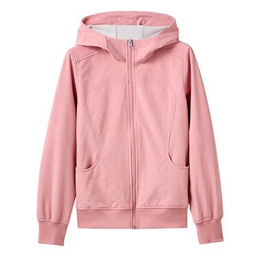 Fleece-lined raglan sleeves hooded jacket