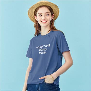 女裝GOOD TIME印花T恤