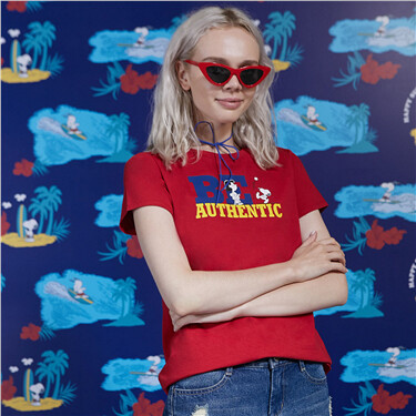 PEANUTS Printed Tees for Women