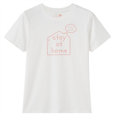 Let's stay at home 女裝印花T恤