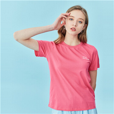Letter patterns crewneck short-sleeve tee