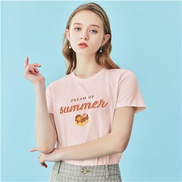 【網上獨家】女裝純棉印花短袖T恤