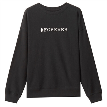 Letters-printed loose pullover