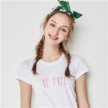 Printed letter tee
