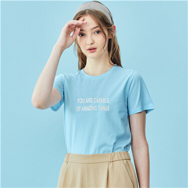 Women Printed letter tee