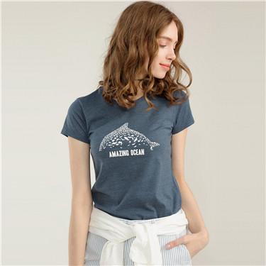 女裝海洋系列棉質印花T恤