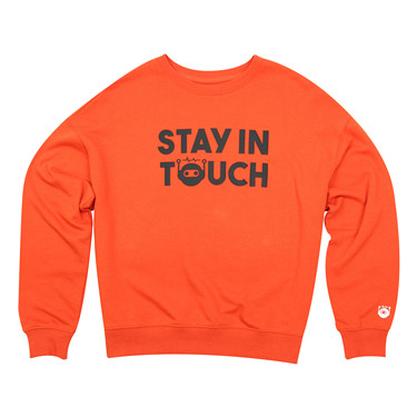 Stay in touch series printed loose sweashirt