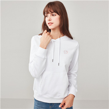 Embroidered kanga pocket hoodie