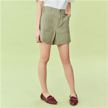 Cargo pockets high rise shorts
