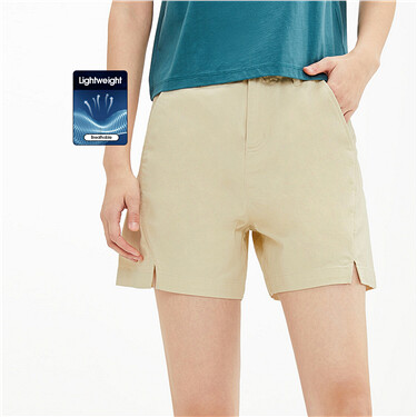 Front vents stretchy lightweight shorts