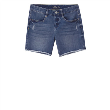 Mid rise denim pocket shorts