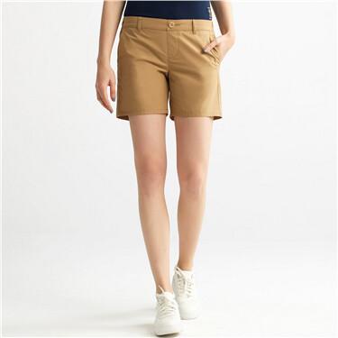 COOLMAX速乾鬆緊腰休閒短褲