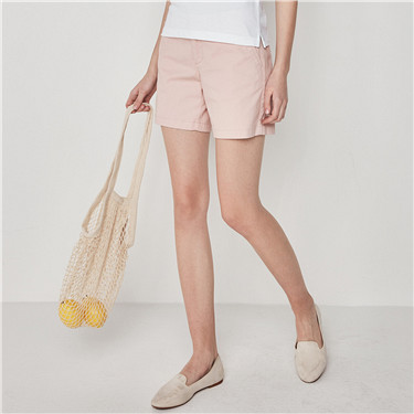 Mid rise slim shorts