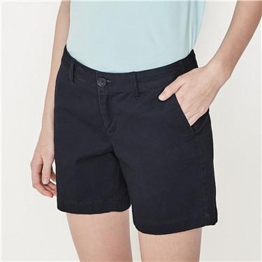 Mid rise slim shorts