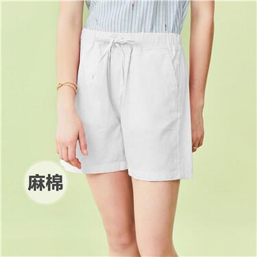 Cotton mid rise shorts
