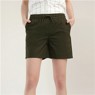 Mid rise casual shorts