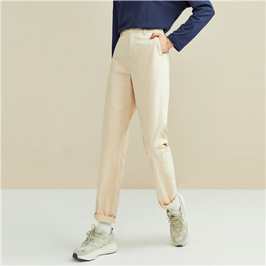 Stretchy forward seam high-rise pants
