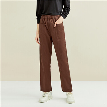 Stretchy forward seam pockets pants
