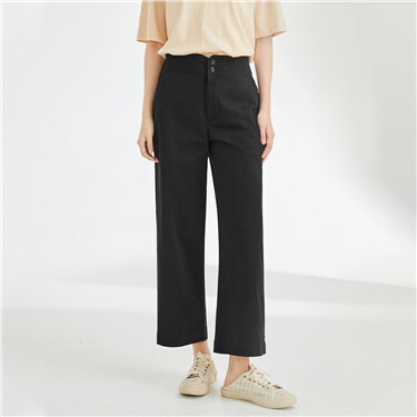 Stretchy high-rise wide leg pants