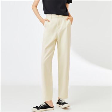Multi-pocket high-rise denim jeans