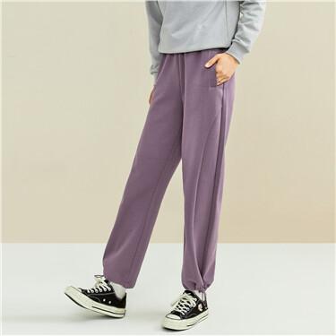 Interlock elastic waistband joggers