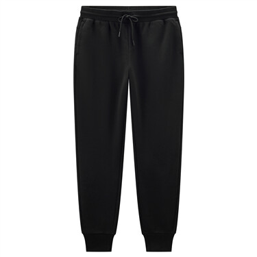 Fleece-lined waistband drawstring joggers