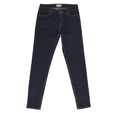 Whiskered mid rise slim jeans