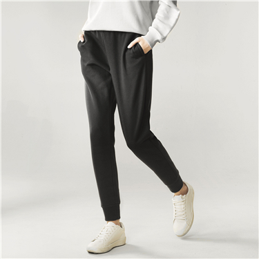 Womens G-MOTION Pile coating drawstring casual pants