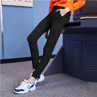 Elastic Waistband With Drawstring Joggers