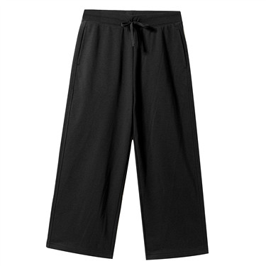 High waist Drawstring wide-leg pants