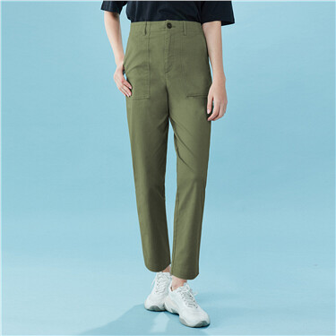 Big slant pockets cargo straight pants