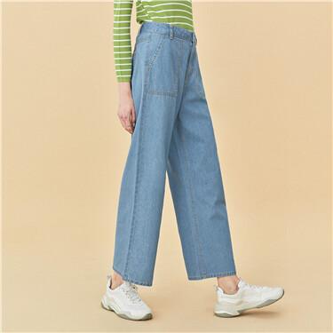 Big slant pockets high-rise jeans