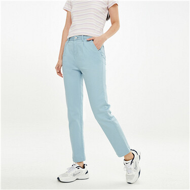 Stretchy high-rise colored jeans