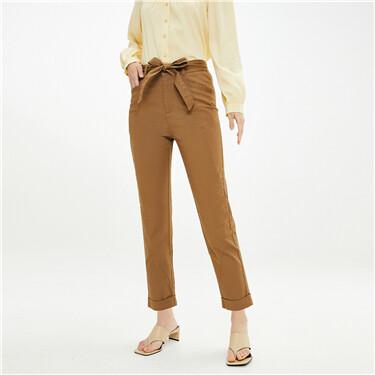 Drawstring stretchy lightweight pants