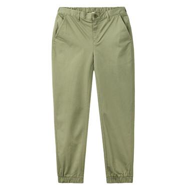 Stretchy half elastic waistband pants