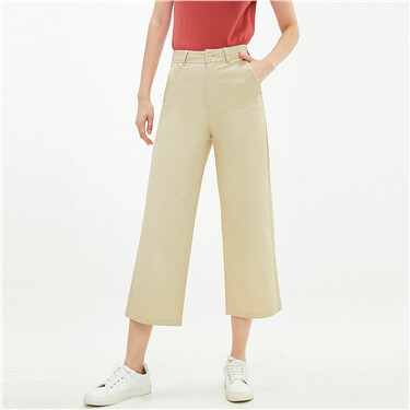 Stretchy high-rise wide-leg pants
