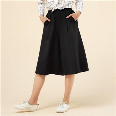 Mid rise elastic culottes (Women)
