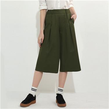 Solid wide-leg pants