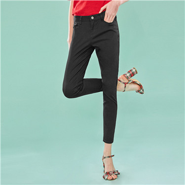 Mid-rise slim ankle pant