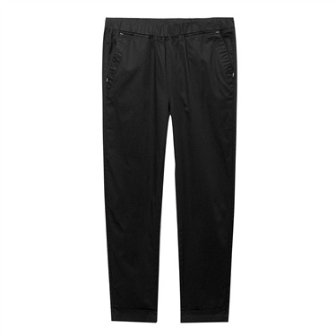 Elastic waist ankle-length casual pants