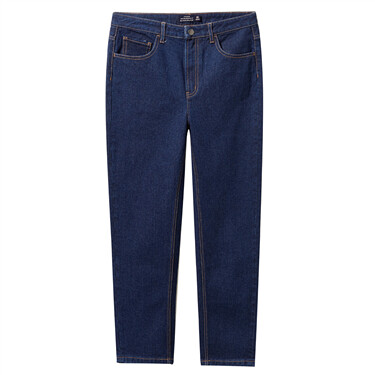 High rise ankle-length denim jeans