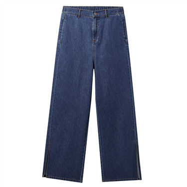 High rise wide leg ankle-length jeans