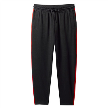 Stretchy contrast ankle-length joggers
