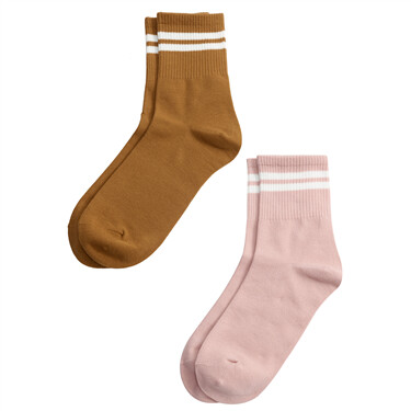Pack of 2 pairs contrast jacquard all-match sock
